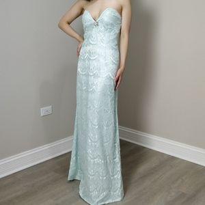Prom dress light blue custom lace JANE.X Heidi